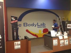 Body Lab Mural Install
