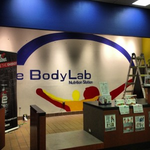 Installation of Logo in Retail Space